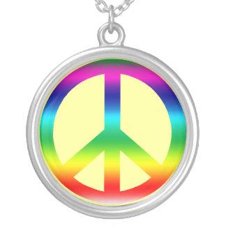 Collar del signo de la paz del arco iris