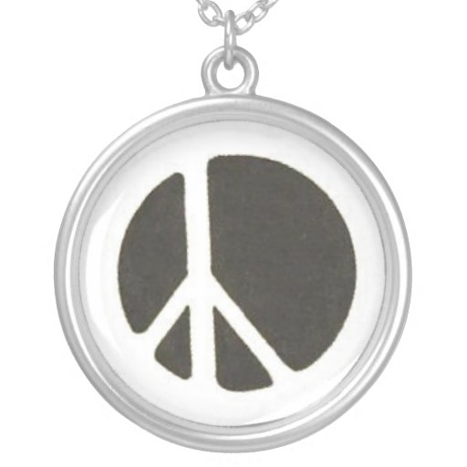 Collar del símbolo de paz
