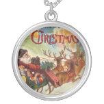 Collar del trineo del reno de Papá Noel del vintag