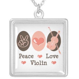 Collar del violín del amor de la paz