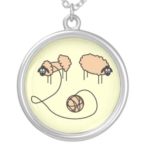Collar divertido de las ovejas