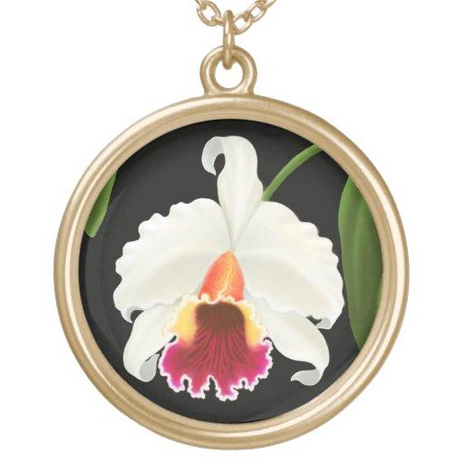 Collar elegante de la orquídea del ramillete de Ca