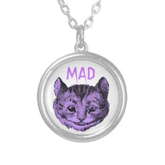 Collar enojado del gato de Cheshire (violeta