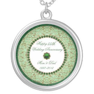 Collar esmeralda del aniversario de boda