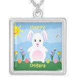 Collar feliz del conejo de conejito de Ostara