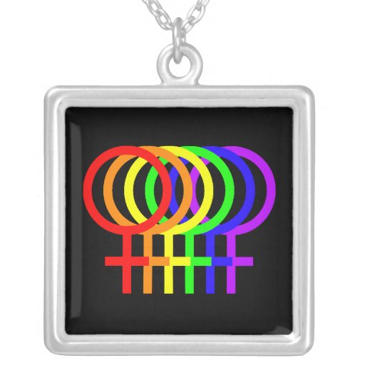 Collar femenino de los símbolos del arco iris