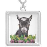 Collar floral de la cabra enana