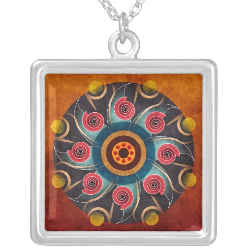 Collar floral de la plata del arte del vector del