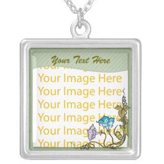 Collar floral del marco de la foto de la verde sal