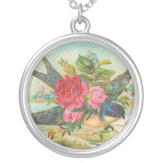 Collar floral del vintage