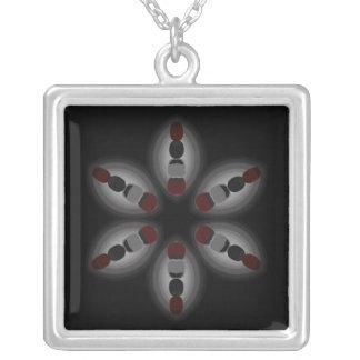 Collar floral negro y rojo abstracto del designl