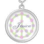 Collar floral personalizado del signo de la paz
