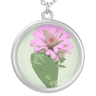 Collar floral rosado
