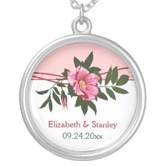 Collar floral subió del recuerdo del boda del rosa