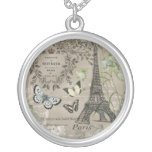 collar francés del encanto de la torre Eiffel del