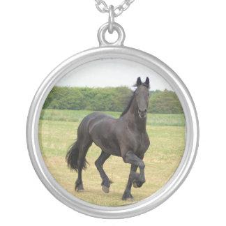 Collar frisio de la plata del caballo
