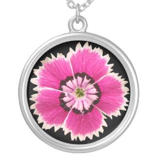 Collar fucsia de la flor