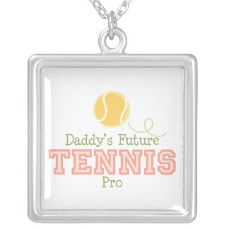 Collar futuro de la plata esterlina del tenis del
