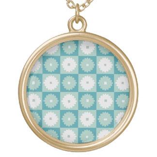 Collar geométrico moderno de las flores de los