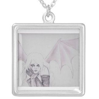 collar gótico del ángel