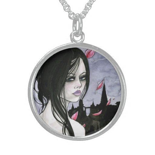 Collar gótico del arte del chica del vampiro