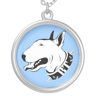 Collar ilustrado de bull terrier del inglés