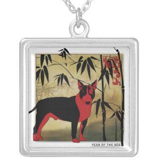 Collar inspirado asiático de Engligh bull terrier