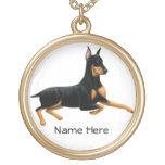 Collar leal del perro del Pinscher del Doberman