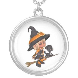 Collar lindo de Halloween de la bruja
