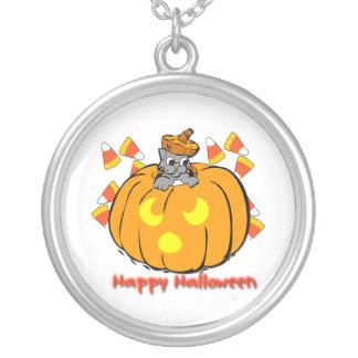 Collar lindo de la calabaza de Halloween del gatit