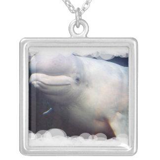 Collar lindo de la plata esterlina de la ballena d