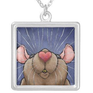 Collar lindo de la rata del corazón