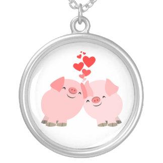 Collar lindo de los cerdos del dibujo animado