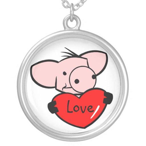 Collar lindo del cerdo