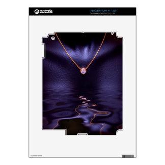 Collar líquido del oro del diamante mojado negro calcomanía para el iPad 2