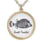 Collar liso del Trunkfish del arrecife de coral