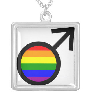 Collar masculino del símbolo del arco iris
