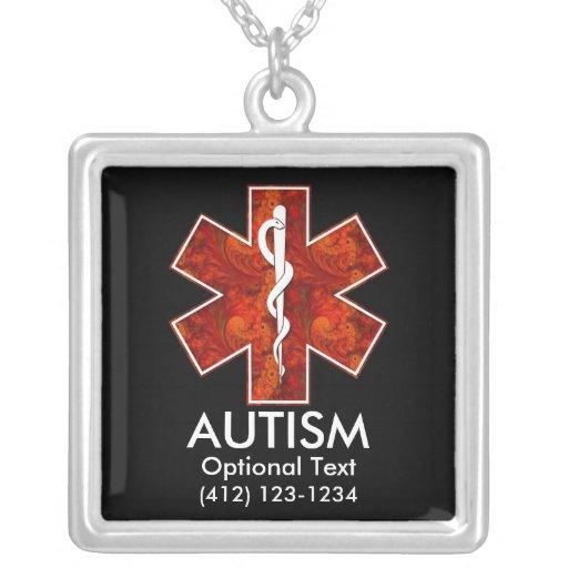 Collar médico   del autismo: Personalizable