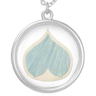 Collar mucho más que leche blue silver plated necklace