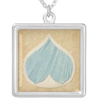 Collar mucho más que leche camel&blue silver plated necklace