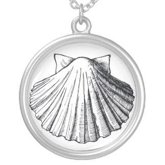 Collar negro del Seashell