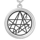Collar negro del sello de Necronomicon