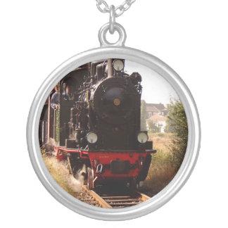 Collar negro del tren del motor de vapor en los ca