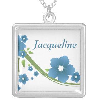 Collar nupcial floral azul del regalo del fiesta