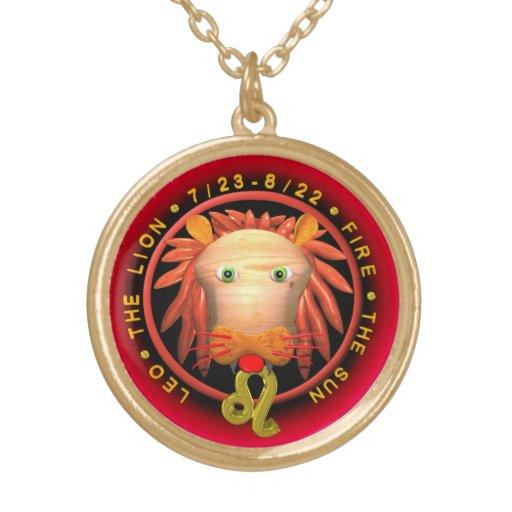 Collar o locket del final del oro del zodiaco de