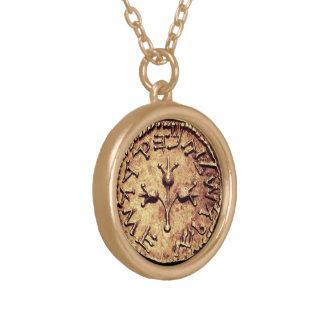 Collar oscuro de la moneda de oro de la herencia j