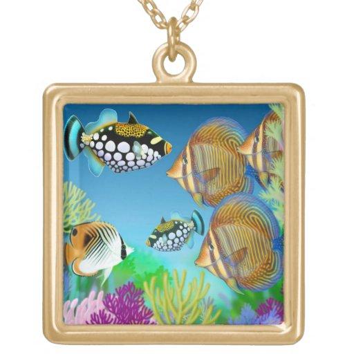 Collar pacífico de los pescados del arrecife de co