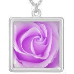 Collar pendiente color de rosa púrpura violeta her