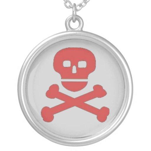"""Collar pendiente del """"cráneo rojo"""""""
