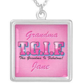 Collar personalizado abuela fabulosa de TGIF